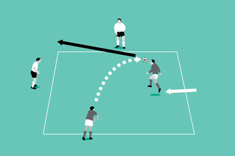 Vary the service and get your players used to the ball coming from either side.