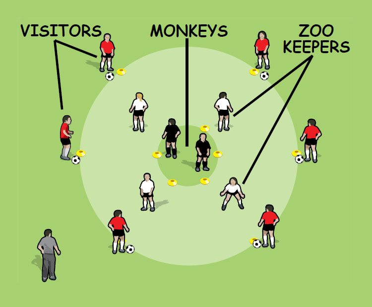 Don't Feed the Monkeys drill for 5 to 8 year olds - part 1