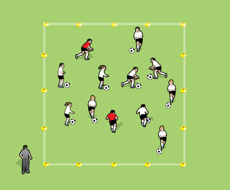 Ghostbusters soccer drill for 5 to 8 year olds - part 1