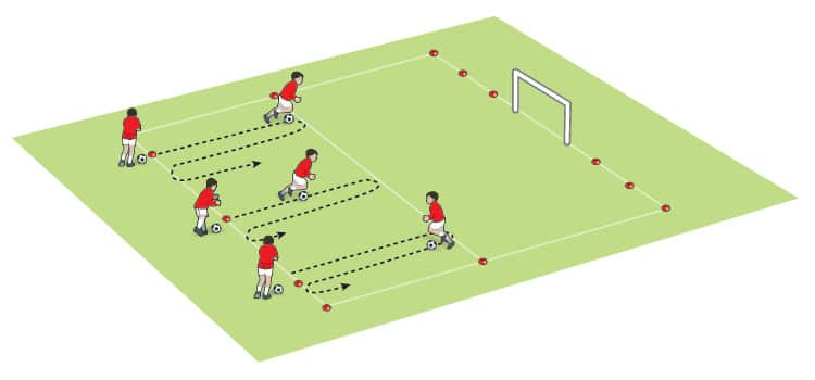 U11 dribble with the ball and shoot activity - part 1