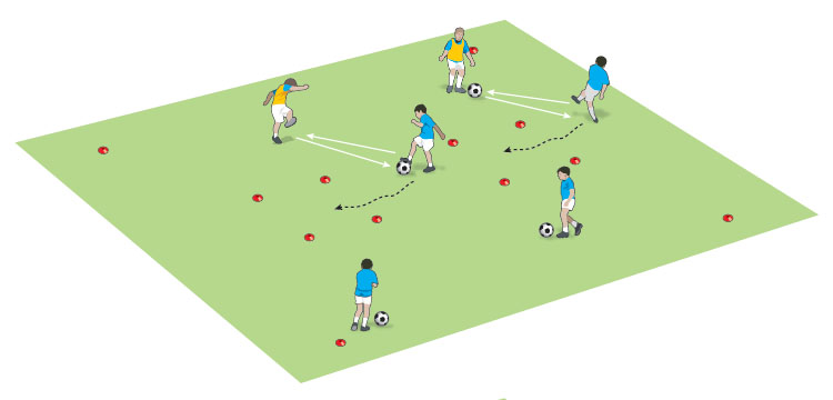 U10 receive control and stop the ball game - part 1